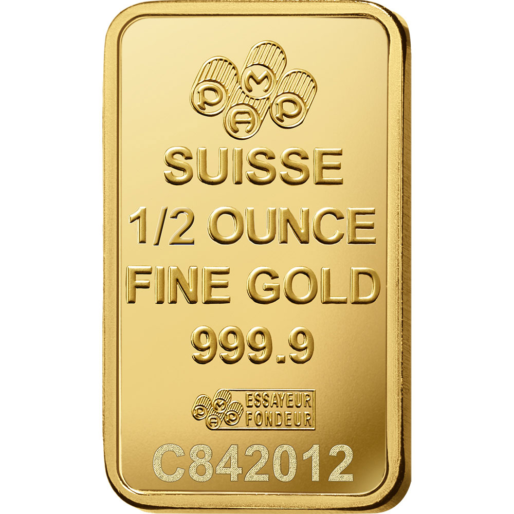 1/2 oz Gold Bar - PAMP Suisse Lady Fortuna Veriscan