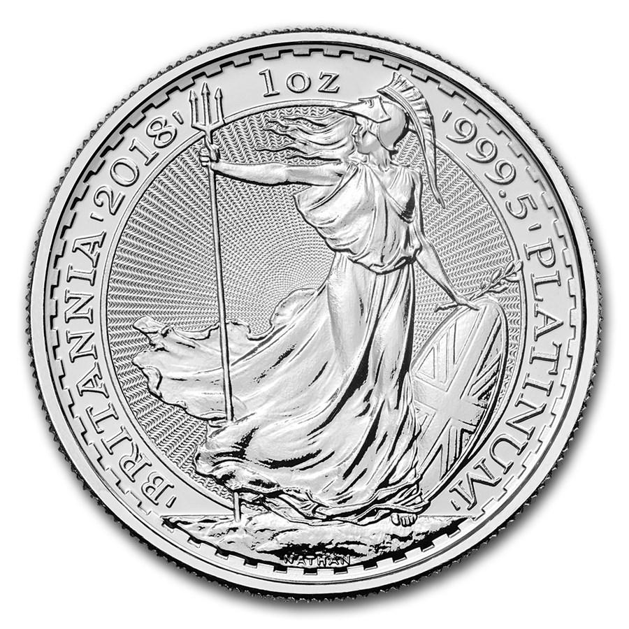 1 oz Platinum Coin - Britannia BU 2018