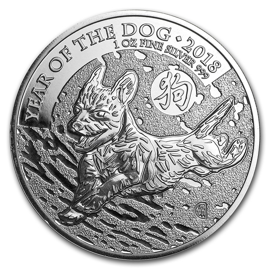 2018 Great Britain 1 oz Silver Year of the Dog BU