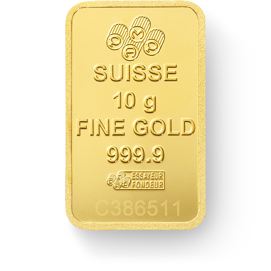 Invest in 10 grams Fine gold Lady Fortuna - PAMP Swiss - Back