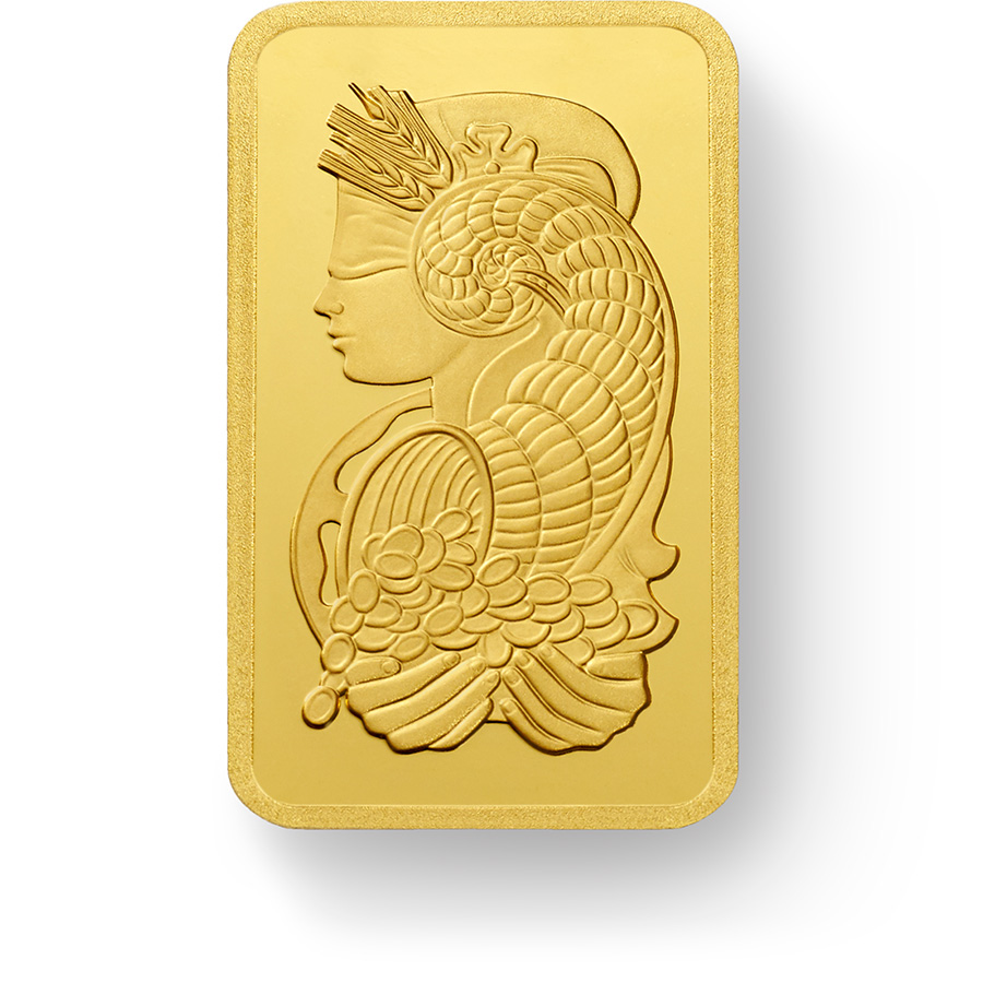 10 grammes lingotin d'or pur 999.9 - PAMP Suisse Lady Fortuna Veriscan