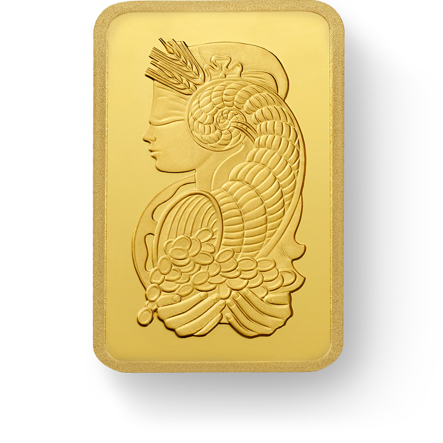Buy 12x1 gram Fine gold Lady Fortuna - PAMP Swiss - Front