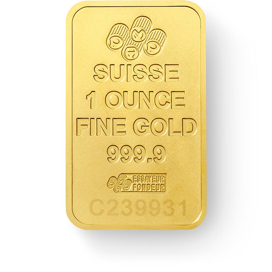 Comprare 1 oncia lingottino d'oro puro 999.9 - PAMP Suisse New Design - Back