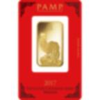 1 Unze FeinGoldbarren 999.9 - PAMP Suisse Lunar Hahn