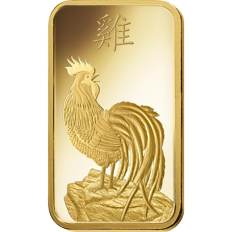 1 oncia lingottino d'oro puro 999.9 - PAMP Suisse Lunar Gallo