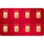 8x1 gram multigram Fine Gold Bar 999.9 - PAMP Suisse Lunar Rooster