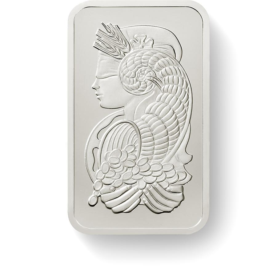Investire in 1 oncia lingottino di platino puro 999.5 - PAMP Suisse Lady Fortuna - Front
