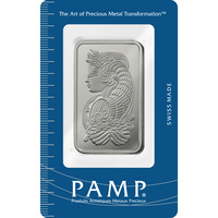 100 gram Platinum Bar - PAMP Suisse Lady Fortuna