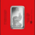 100 grammi lingottino d'argento puro 999.0 - PAMP Suisse Lunar Gallo