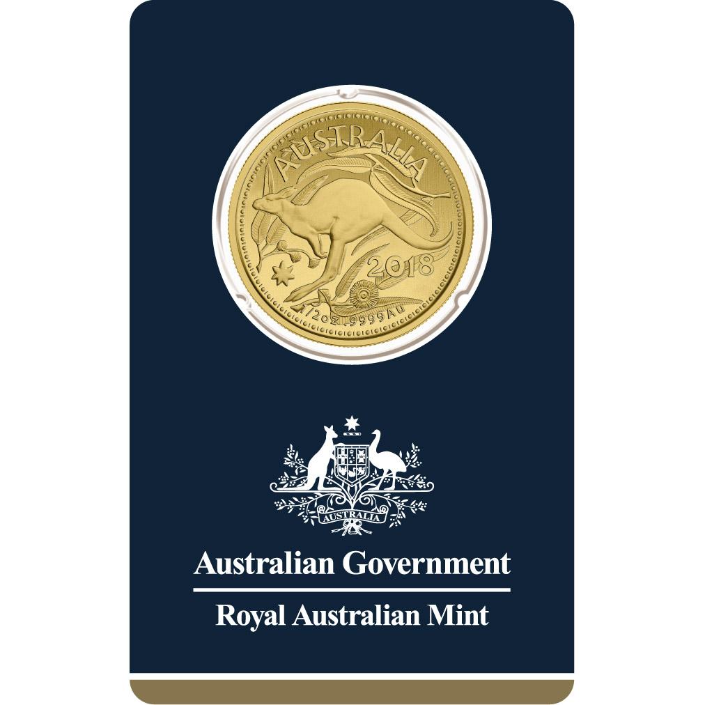 1/2 oz Fine Gold Coin 999.9 - Kangaroo Veriscan BU 2018
