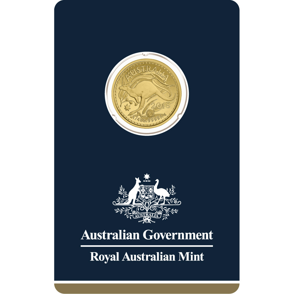 1/4 oz Gold Coin - Kangaroo Veriscan BU 2018