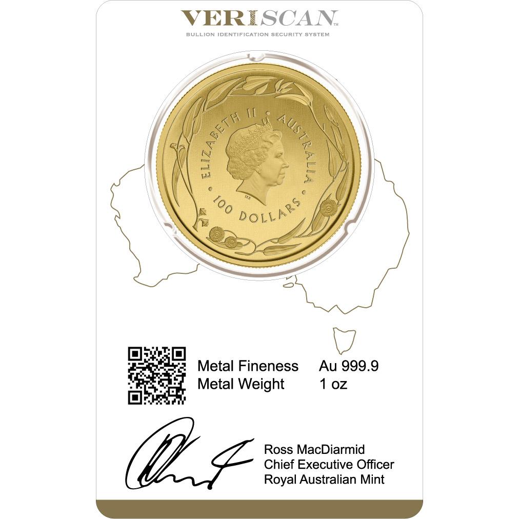 1 oz Fine Gold Coin 999.9 - Kangaroo Veriscan BU 2018
