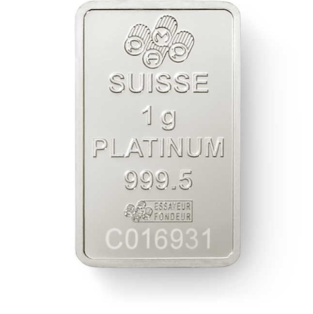 Invest in 1 gram Fine Platinum Lady Fortuna - PAMP Suisse - Back