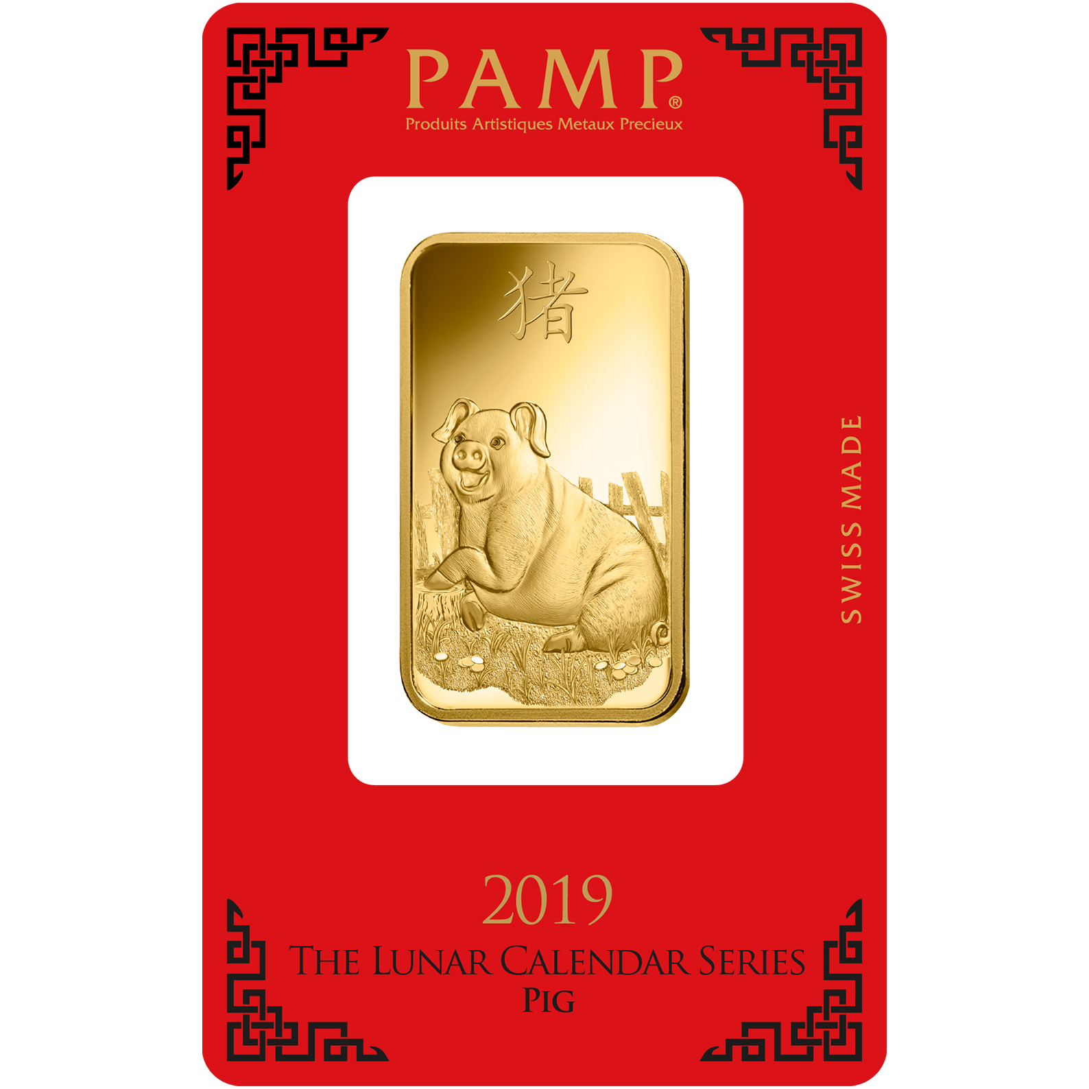 1 oz Gold Bar - PAMP Suisse Lunar Pig