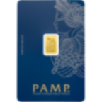 1 gram Fine Gold Bar 999.9 - PAMP Suisse Lady Fortuna Veriscan