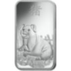 100 grammes lingotin d'argent pur 999.0 - PAMP Suisse Lunar Cochon