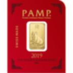 8x1 Gramm FeinGoldbarren 999.9 - PAMP Suisse Lunar Schwein