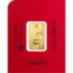 8x1 gramme multigramme lingotin d'or pur 999.9 - PAMP Suisse Lunar Cochon