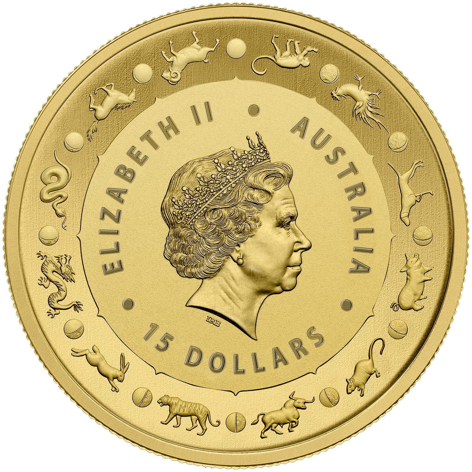 1/10 oz Gold Coin - Lunar Pig BU 2019