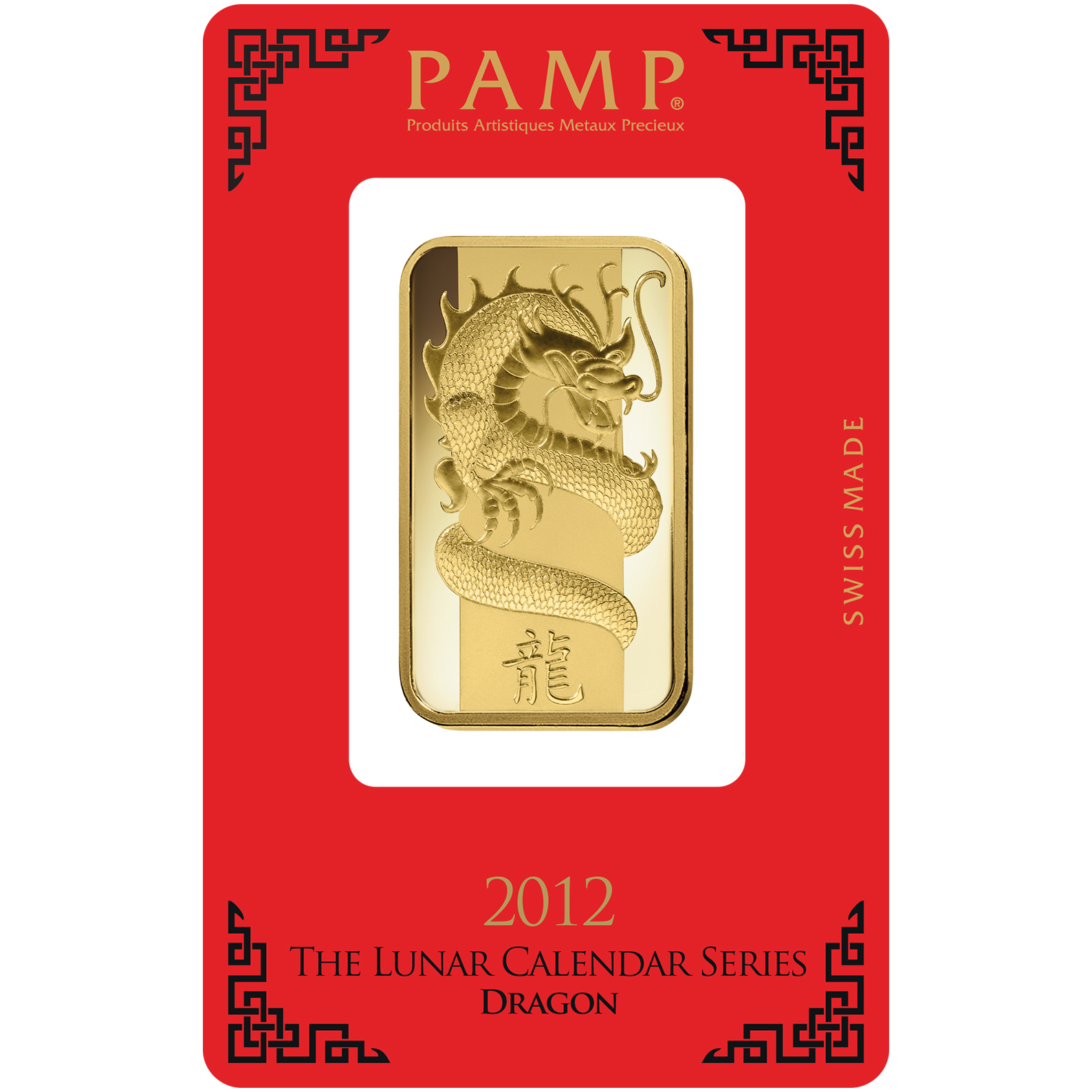 1 oncia lingottino d'oro - PAMP Suisse Lunar Drago