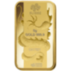 5 gram Fine Gold Bar 999.9 - PAMP Suisse Lunar Dragon