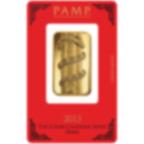 1 Unze FeinGoldbarren 999.9 - PAMP Suisse Lunar Schlange