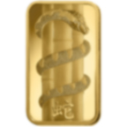 1 oncia lingottino d'oro puro 999.9 - PAMP Suisse Lunar Serpente