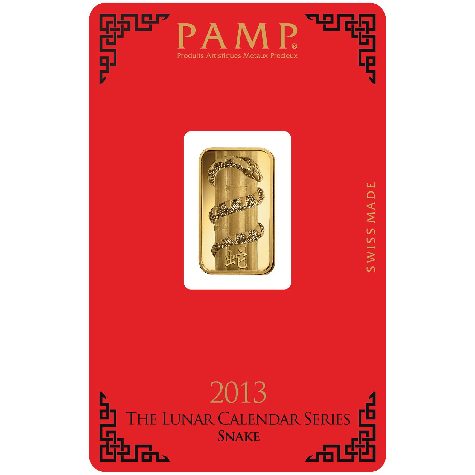 Lingotin d'or de 5 grammes - PAMP Suisse Lunar Serpent