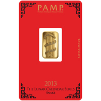 5 gram Gold Bar - PAMP Suisse Lunar Snake