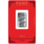 10 Gramm FeinSilberbarren 999.0 - PAMP Suisse Lunar Schlange