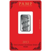 Lingotin d'argent de 10 grammes - PAMP Suisse Lunar Serpent