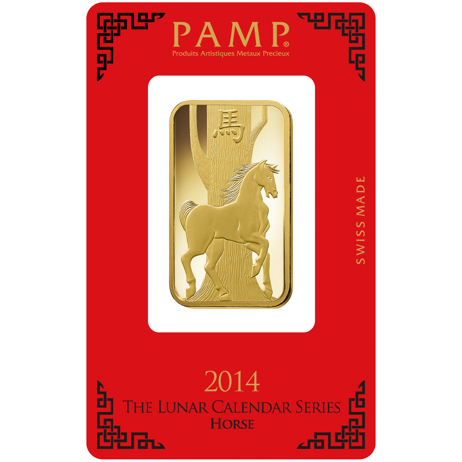 1 oz Gold Bar - PAMP Suisse Lunar Horse