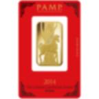 1 Unze FeinGoldbarren 999.9 - PAMP Suisse Lunar Pferd