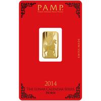 5 gram Gold Bar - PAMP Suisse Lunar Horse
