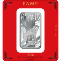 100 grammi lingottino d'argento - PAMP Suisse Scimmia Lunare