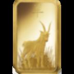 1 once lingotin d'or pur 999.9 - PAMP Suisse Lunar Chèvre