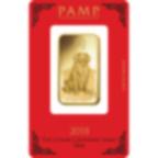 1 Unze FeinGoldbarren 999.9 - PAMP Suisse Lunar Hund