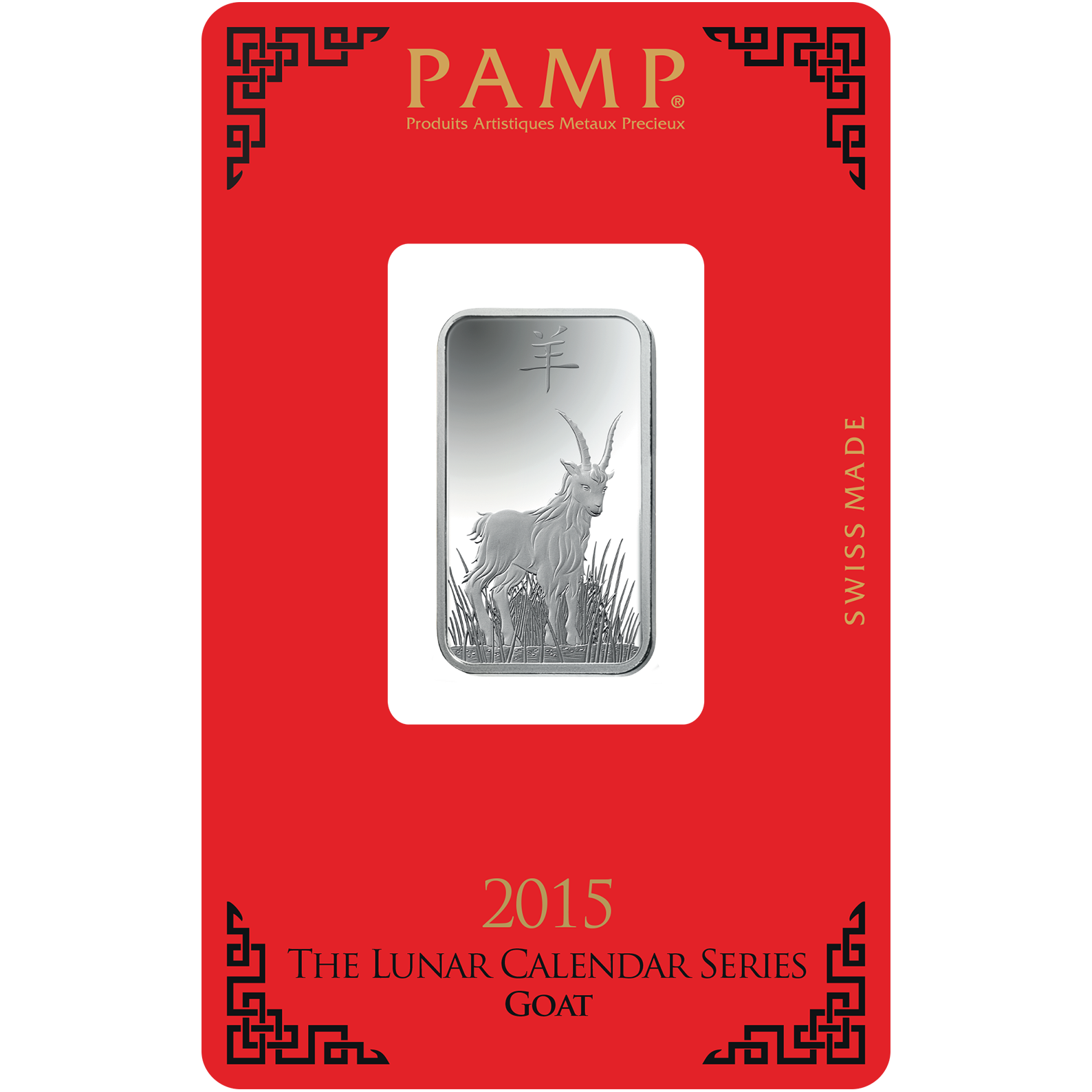 10 grammi lingottino d'argento - PAMP Suisse Lunar Capra