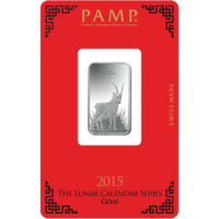 Lingotin d'argent de 10 grammes - PAMP Suisse Lunar Chèvre