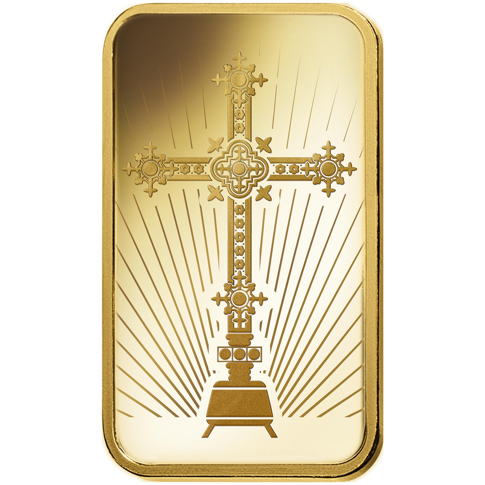 1 oncia lingottino d'oro puro 999.9 - PAMP Suisse Croce Romana