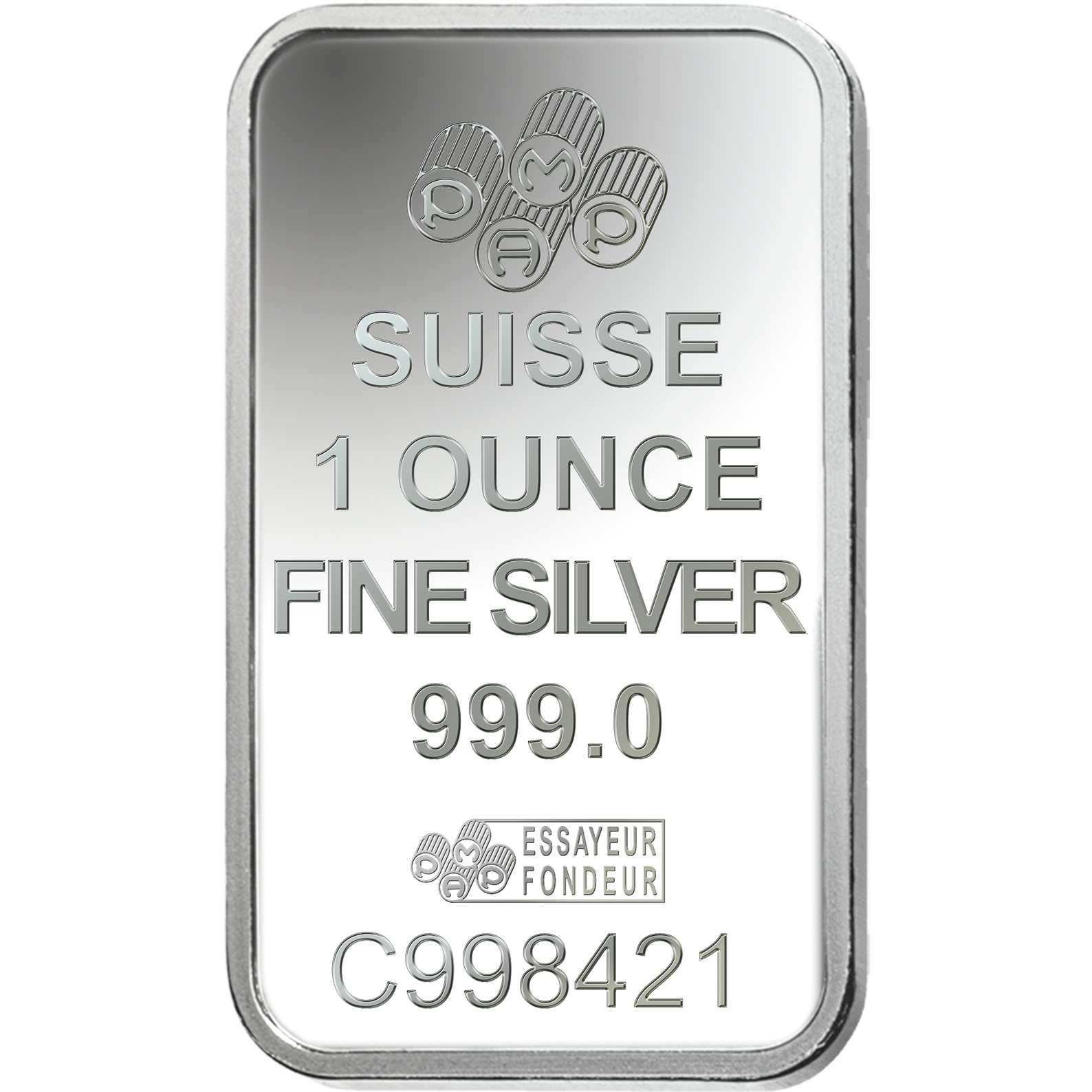 1 oz Fine Silver Bar 999.0 - PAMP Suisse Romanesque Cross