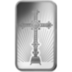 10 gram Fine Silver Bar 999.0 - PAMP Suisse Romanesque Cross