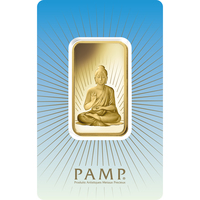 1 oz Gold Bar - PAMP Suisse Buddha