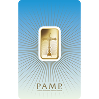10 gram Gold Bar - PAMP Suisse Romanesque Cross