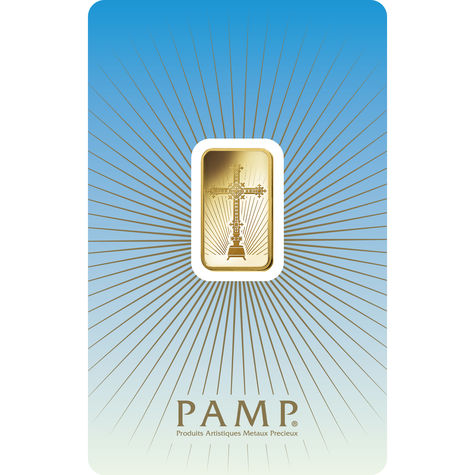 5 grammes lingotin d'or pur 999.9 - PAMP Suisse Croix Romane