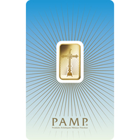5 gram Gold Bar - PAMP Suisse Romanesque Cross