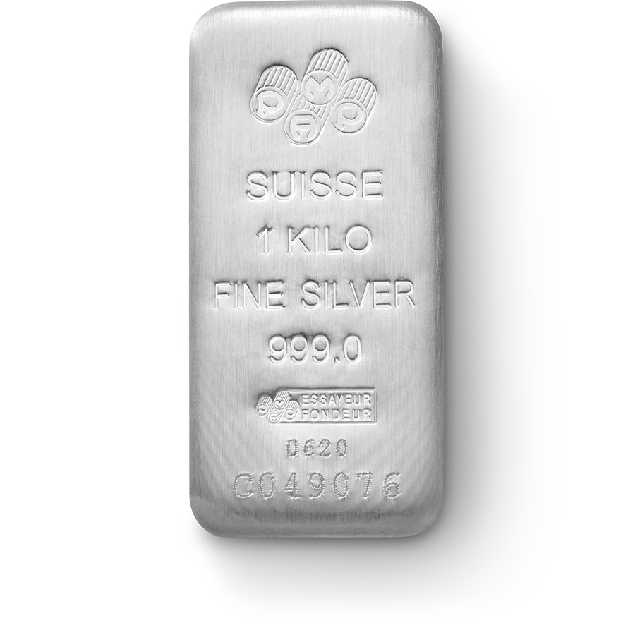 Investire in 1 kg lingotto d'argento puro 999.0 - PAMP Suisse - Front