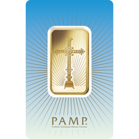 1 oz Gold Bar - PAMP Suisse Romanesque Cross