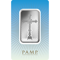 1 oz Silver Bar - PAMP Suisse Romanesque Cross