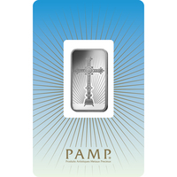 10 gram Silver Bar - PAMP Suisse Romanesque Cross